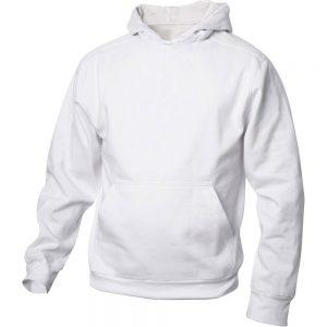 Vit Basic Hoodtröja