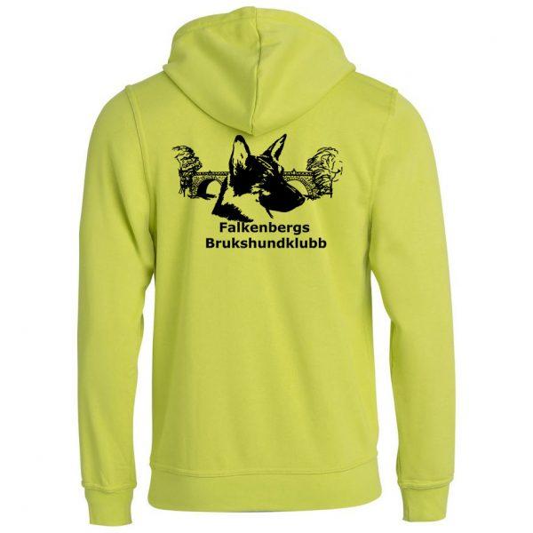 Falkenbergs Brukshundklubb Ljusgrön Basic Hoodtröja