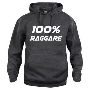 Mörkgrå Hoodtröja 100% Raggare