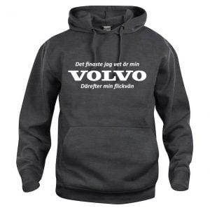 Mörkgrå Hood Volvotröja Det Finaste