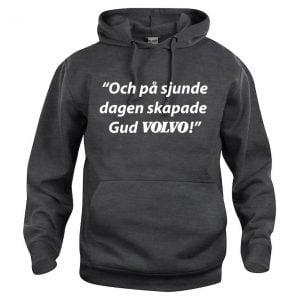 Mörkgrå Hood Volvotröja På Sjunde Dagen
