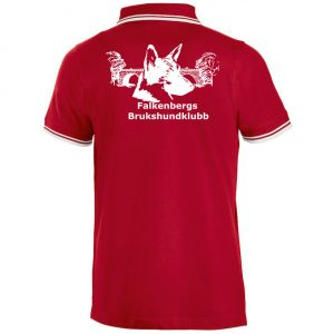 Falkenbergs Brukshundklubb Röd/Vit Piké Kontrastränder