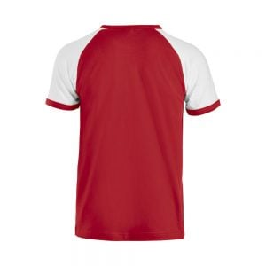 Röd/Vit T-shirt Raglan Baksida