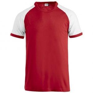 Röd/Vit T-shirt Raglan