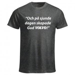 Mörkgrå Volvo T-shirt På Sjunde Dagen