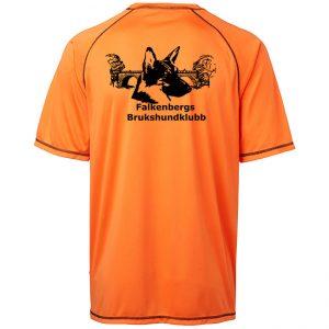 Falkenbergs Brukshundklubb Orange Funktions T-shirt