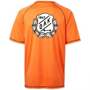 Östersunds Atletklubb Orange Funktions T-shirt Svart/Vit Logo