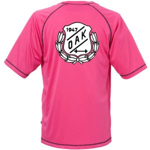 Östersunds Atletklubb Rosa Funktions T-shirt Svart/Vit Logo