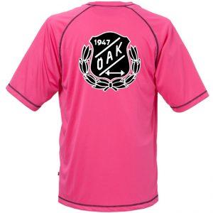 Östersunds Atletklubb Rosa Funktions T-shirt Vit/Svart Logo