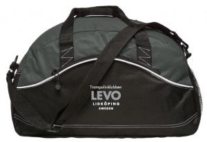 Trampolinklubben Levo Grå/Svart Basic Sportbag