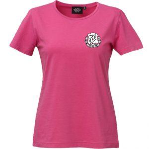Östersunds Atletklubb Cerise T-shirt Svart/Vit Logo