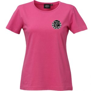 Östersunds Atletklubb Cerise T-shirt Vit/Svart Logo