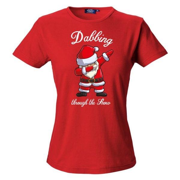 Röd T-Shirt Jultomte Dab