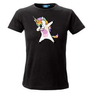 Svart T-shirt Unicorn Dab