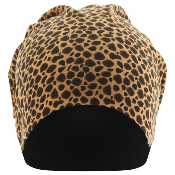 Leopard/Svart Mössa Jersey Framsida