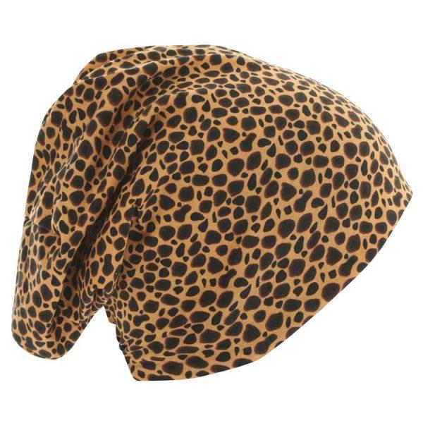 Leopard/Svart Mössa Jersey Höger Sida