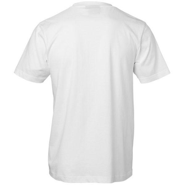 Vit Funktions T-shirt Bomullskänsla Baksida