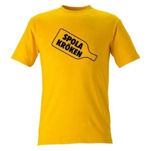 Gul T-shirt Spola Kröken