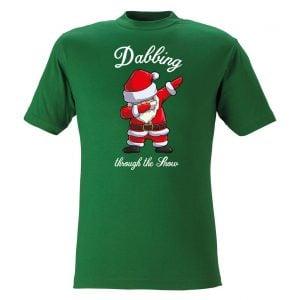 Grön T-Shirt Jultomte Dab