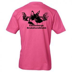 Falkenbergs Brukshundklubb Rosa T-shirt Baksida
