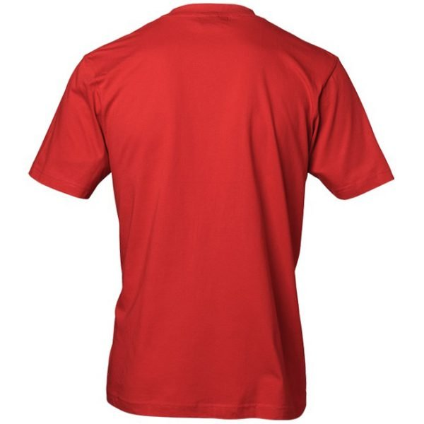 Röd T-Shirt God Jul Tomte Baksida