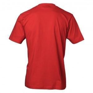 Röd T-Shirt Jultomte Dab Baksida