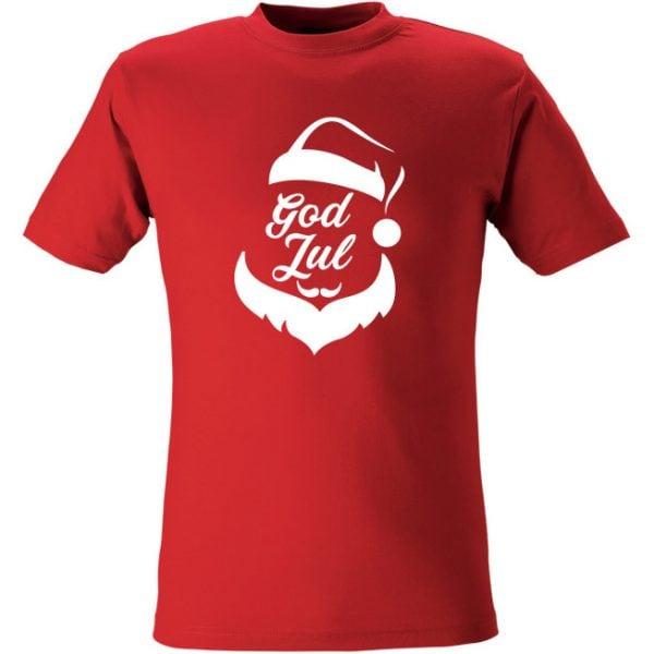 Röd T-Shirt God Jul Tomte