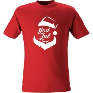 Röd T-Shirt God Jul Tomte