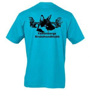Falkenbergs Brukshundklubb Aqua T-shirt Baksida