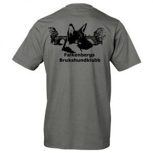 Falkenbergs Brukshundklubb Grå T-shirt Baksida