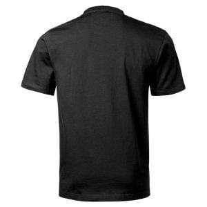 Svart Funktions T-shirt Bomullskänsla Baksida
