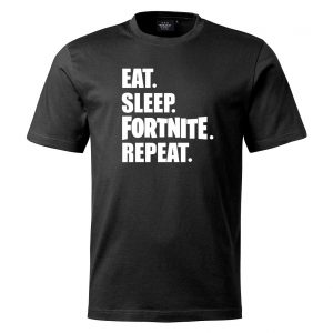 Svart T-shirt Eat Sleep Fortnite