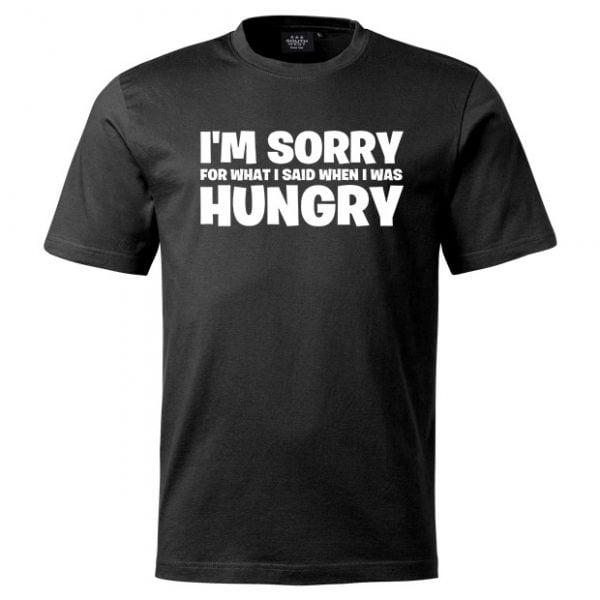 Svart I'm Sorry & Hungry T-shirt