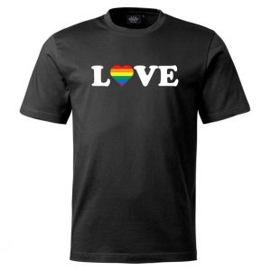 Svart Pride T-shirt Love