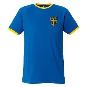 Blågul T-shirt Sverigesköld
