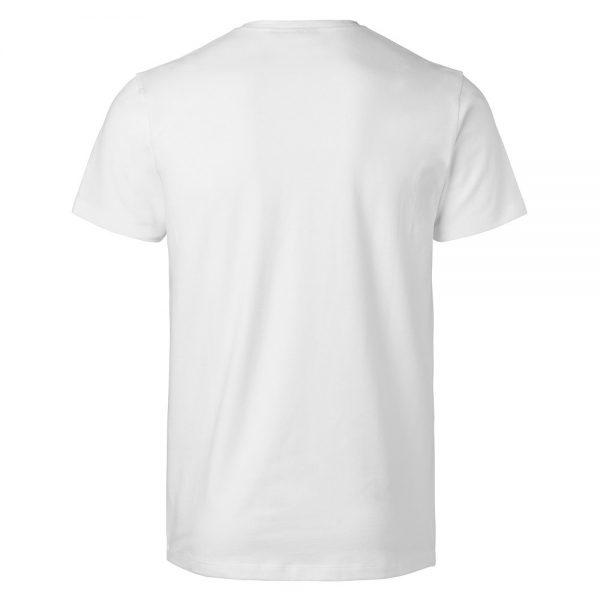 Vit Ekologisk T-shirt V-hals Stretch