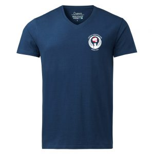 Säffle Karateklubb Marinblå Ekologisk T-shirt V-hals Stretch