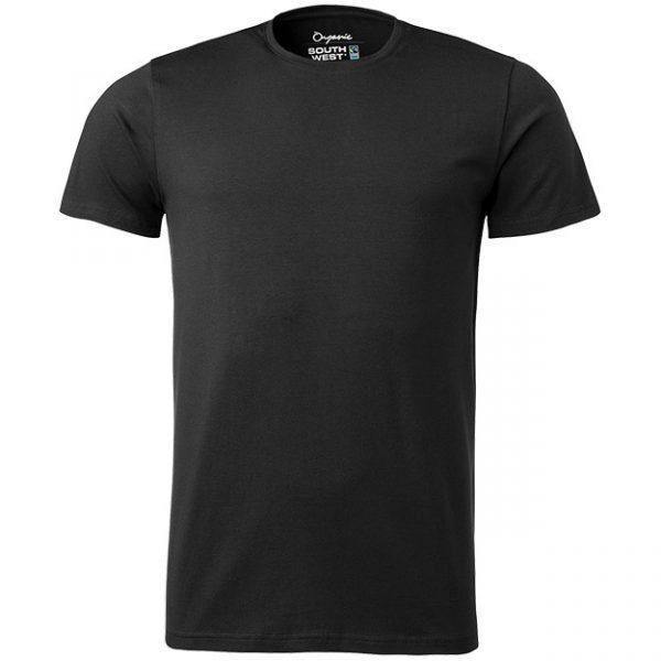Svart Ekologisk T-shirt Stretch