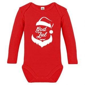Röd Långärmad Body God Jul Tomte