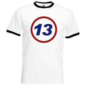 Vit/Svart 13 Rätt är respekt T-shirt