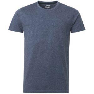 Blå Ekologisk T-shirt Melerad