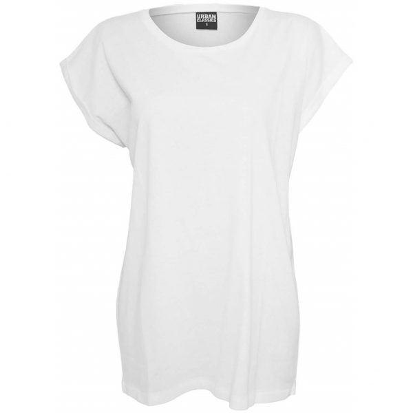 Vit T-shirt Förlängda Axlar UC