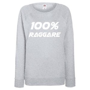 Grå Collegetröja 100% Raggare