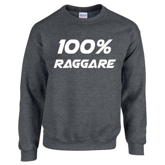 Mörkgrå Collegetröja 100% Raggare