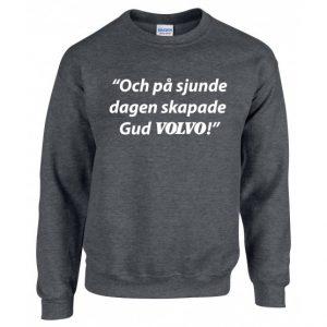 Mörkgrå Volvotröja På Sjunde Dagen