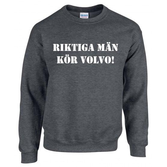 Mörkgrå Volvotröja Riktiga Män