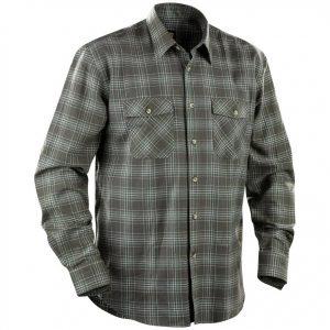 Grå/Grön Flanellskjorta Blåkläder
