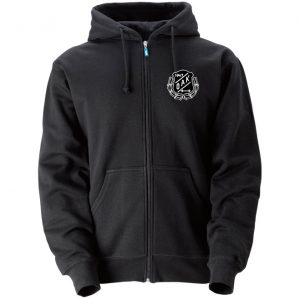 Östersunds Atletklubb Svart Hoodjacka Vit/Svart Logo