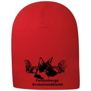 Falkenbergs Brukshundklubb Röd Lång Mössa