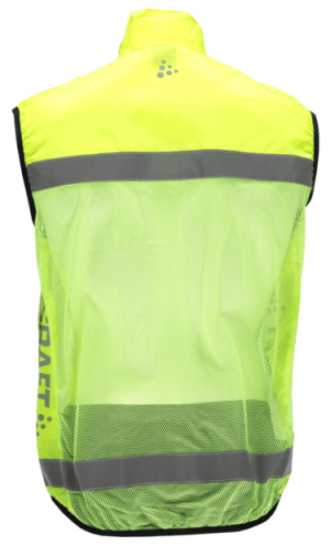 Neongul Reflexväst Craft Baksida